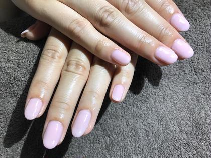 ピンクのワンカラーネイル Flam所属・sato.のフォト