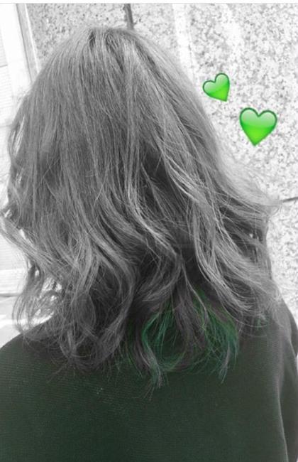 * inner color * 結んだり巻いたりするとほどよくインナーの green がでてきてくれます♡ raffune所属・уσѕhιєѕαуαкαのスタイル
