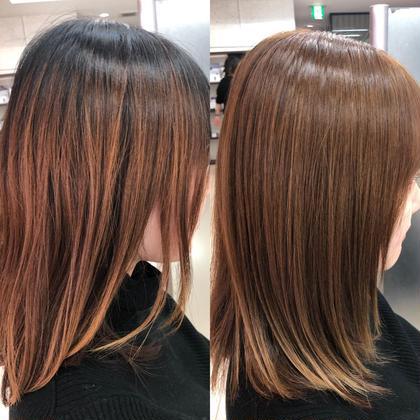 美容室になかなか来れない方‼️ プリン部分も毛先のお色も綺麗に染めませんか⁉️! Produce所属・丹内健太郎のスタイル