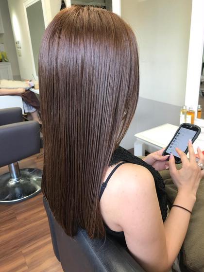 ✨【くせ毛髪質改善】✨100%オーガニックトリートメント&カット & カラー & 縮毛矯正