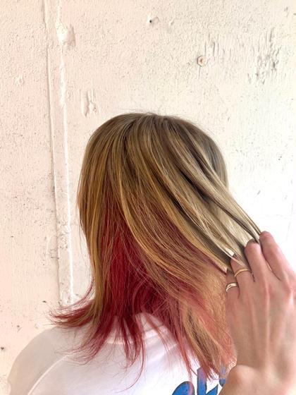 🐮丸々ガラッと髪色チェンジ(ケアブリーチ使用)🐮ダブルカラー(全頭ブリーチ+オンカラー)+トリートメント 💛