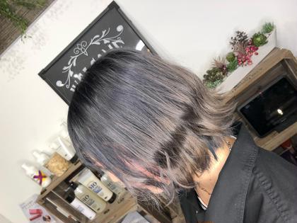 【😺流行りのグレー・シルバーを色落ちで楽しむ😺】紫→グレー・シルバーへ❗️ブリーチ&カラー&ホームケア