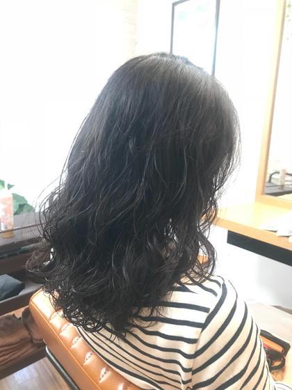 似合わせカット & 艶カラー & パーマ & プチTR