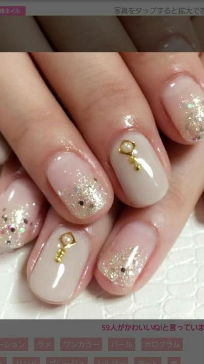 ベージュとゴールドの最強コラボ Nail Salon Grace所属・吉田佳那のフォト