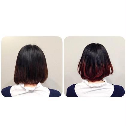 毛先ブリーチオンカラー グラデーション au-be 青山所属・遠藤悠大のスタイル