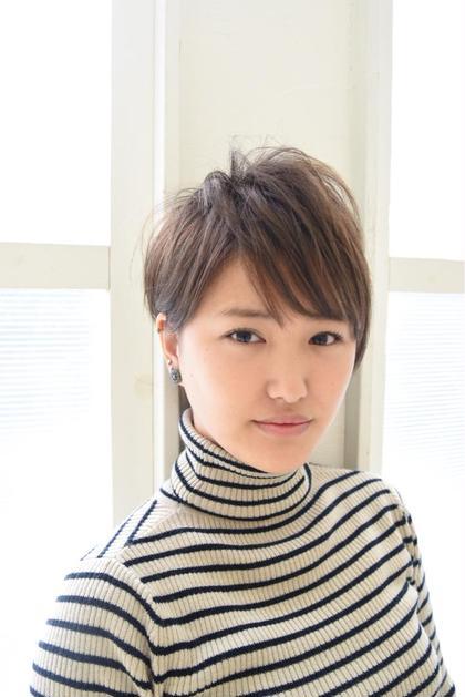 切りっぱなしショート☆ uno pulir 京橋店所属・西川智史のスタイル