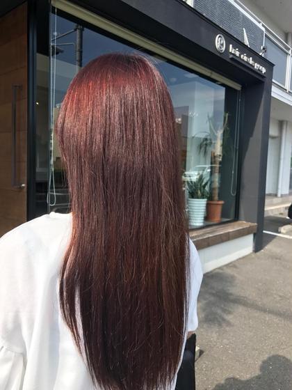 がっつりピンク色カラー✨✨ ヘアサークルgeep石井店所属・石川樹のスタイル