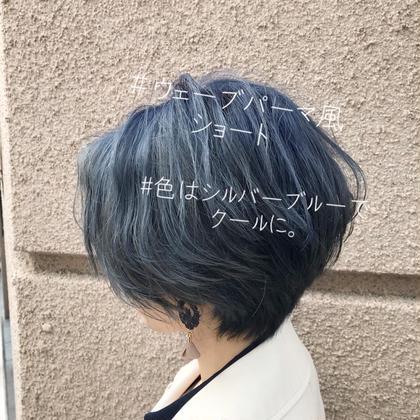✨11時〜19時30分限定クーポン【ショートorショートボブ限定 】透明感カラー+前髪カット+ハホニコトリートメント