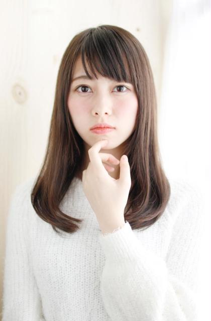 【新規限定】カット+全体カラー+ハホニコ3stepトリートメント ¥6500
