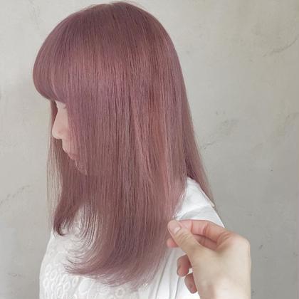 カラー セミロング ヘアアレンジ pink pinkpink めっちゃ可愛すぎます♡   bleachは必須です!!