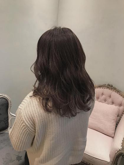 カラー ロング ケアしながら透明感のある髪へ!