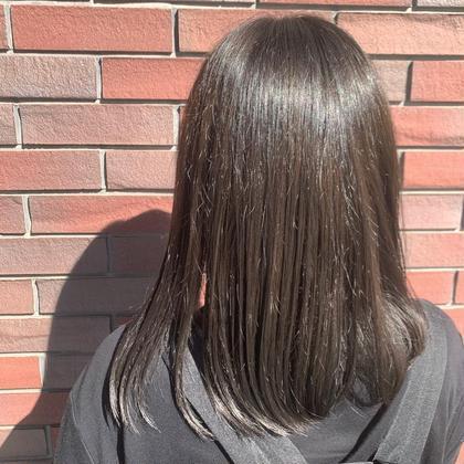 🌷髪の毛をより綺麗にしたい方におすすめ🌷全体カラー(アドミオ・イルミナカラー変更可)+髪質改善(酸熱トリートメント)