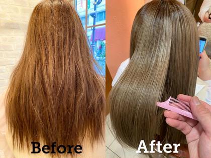 クセ毛対策☔️【本気のヘアケア❣️髪質改善👼🏻】✨話題の美髪トリートメント✨カット+髪質改善+透明感カラー🌈