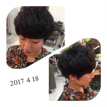 刈り上げ ショートマッシュ ランダムにパーマ bless hair所属・今関由紀子のスタイル