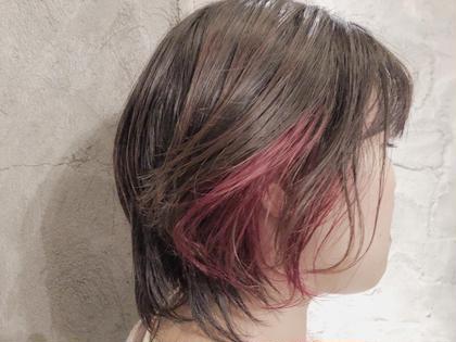 ショート ビビットすぎないピンクが可愛い(^∇^)