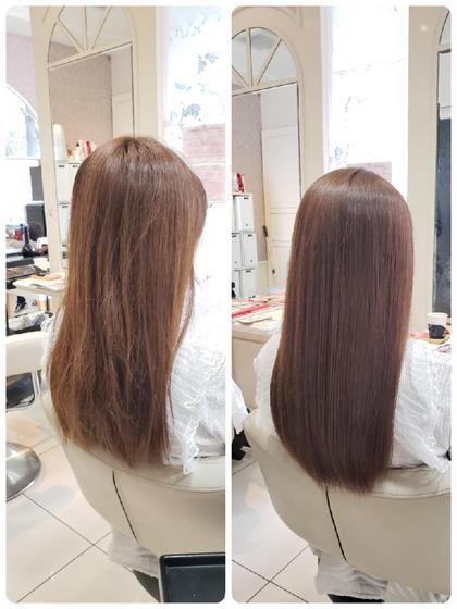 【17時まで】🍀クセをしっかり伸ばしたい方はこちら🙌ハード縮毛矯正+美髪トリートメント🍀¥18000→¥9000