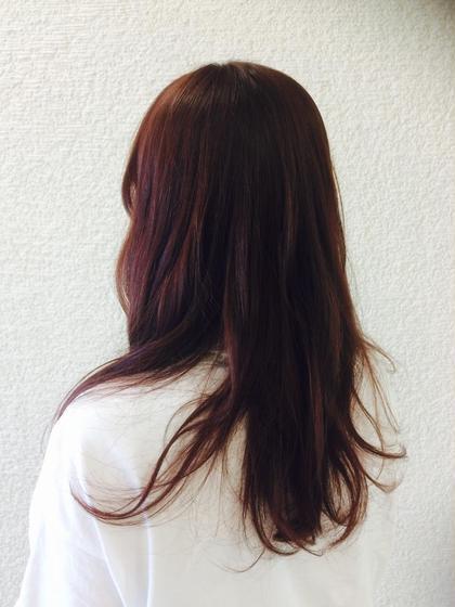 バイオレットベースの暖色系 NEO hair design所属・膳佑輔のスタイル