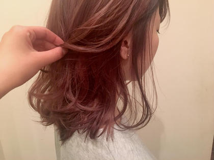 セミロング ピンク