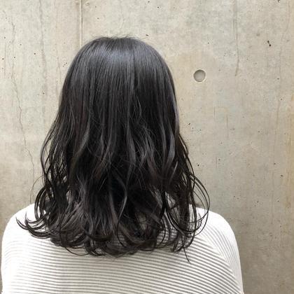 ✂︎カット+透明感と抜け感バツグンの暗髪カラー✂︎