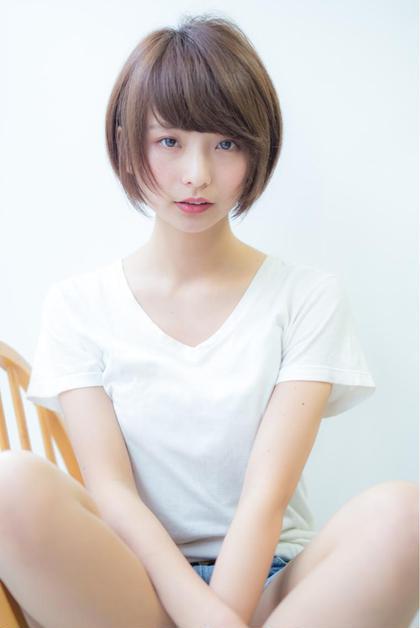 小顔耳かけマッシュボブ☆  Hair& Photo染谷正 Model misaki 染谷正のショートのヘアスタイル
