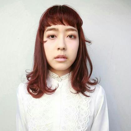赤毛のミディ tranq hair design所属・イケベミホのスタイル