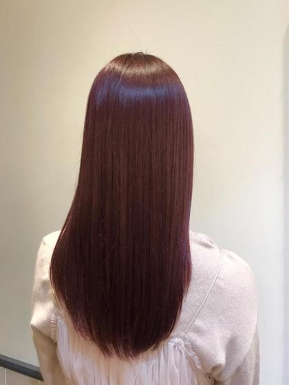 カラー ヘアアレンジ ミディアム *春先におススメ*  ピンクブラウン💓  髪色に飽きてきた方におススメです😊