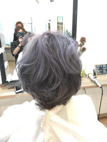 バレイヤージュカラーです。 バレイヤージュとは陰影の立体感が髪の動きをダイナミックに見せてくれるので軽やかな印象になるカラーです(^^) MOKU hair salon春日店所属・熊谷勝磨のスタイル