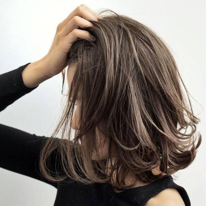 立体感のでるデザインカラー⭐︎ HAIR&MAKE EARTH 南福島店所属・下條真のスタイル