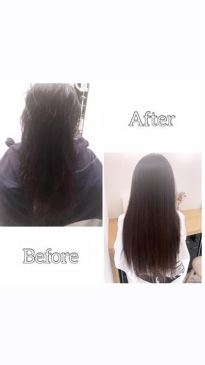 ❤️あなたも芸能人のような艶髪❤️縮毛矯正+髪質改善ハーブトリートメント+メンテナンスカット