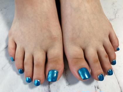 footミラーネイル ラメホロ