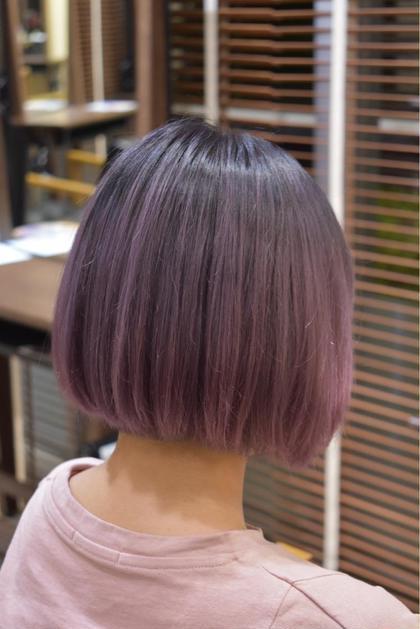 ピンクグラデーション! 宍戸裕亮のショートのヘアスタイル