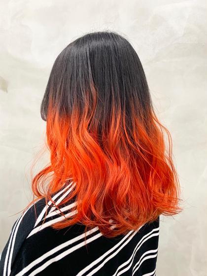 オレンジグラデーション🍊 #オレンジ#カラー