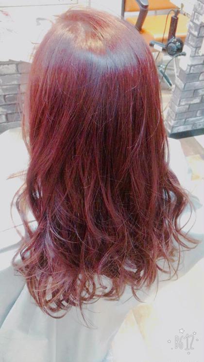 赤みカラー! レッドバイオレット\(^o^)/ Agu hair所属・石澤誠のスタイル