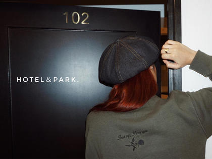 "HOTEL&PARK. - apparel -  A/W Sweatshirt ""Shut up,I love you"" Khaki / S unisex M/Lsize SOLDOUT ¥ 7,560   店頭・ON LINESHOPより販売中 ※ 販売数に限りがございます。  【お問い合わせ】 ☎︎ 03-6712-5530 HOTEL&PARK.所属・HOTEL &PARK.waxのフォト"