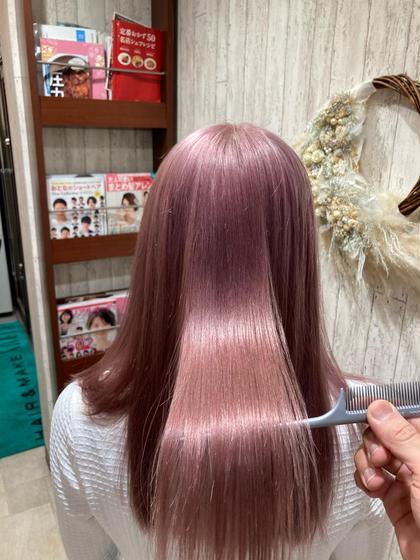 🙈ブリーチのダメージが気にならない🙈ケアブリーチ+アドミオ、イルミナカラー+髪質改善トリートメント(ゴールドコース)