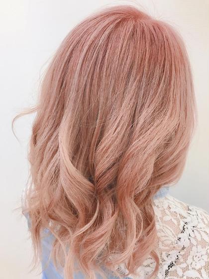ピンク、グラデーション、ハイトーン、ブリーチ VAN COUNCIL琴似店 所属・satosakuraのスタイル