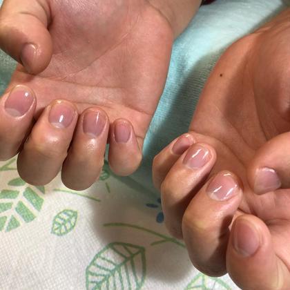 【オフ無し】 ネイルケア✨ (自爪の形整え・甘皮ケア・表面磨き+強化剤) ※カラーリングは含まれていません