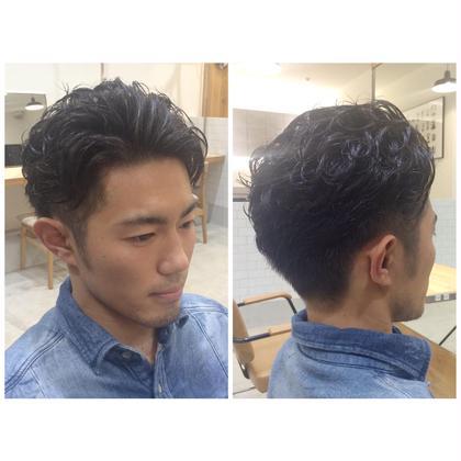 メンズ・ウェーブスタイル☆ 強めのカール感を出し、流れるようなヘアに。 少し濡らしてからジェルスタイリングしてます! AUTRE by FUGA hair所属・大橋春美のスタイル