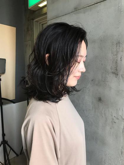 カット & ゆるふわパーマ&髪質再生トリートメント