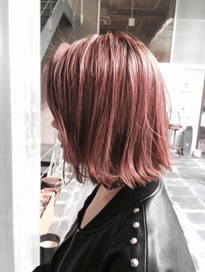 カラー ミディアム ピンクグレージュ
