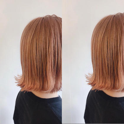 👼【最小限のダメージ】👼ケアブリーチ+カラー+美髪トリートメント