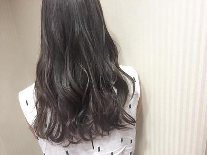 カラー セミロング ミディアム ロング jelly color♪ high light × dark gray♡