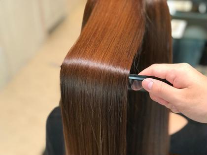 ✨最新縮毛矯正✨【BIKAKUストレート】ブリーチ毛でもあてられるストレート☘️柔らかい仕上がり💓トリートメントつき