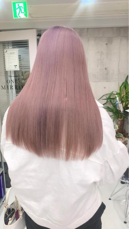 🌻10月限定•艶髪🌻                    ブリーチ➕ワンカラー➕高保湿4STEPハホニコTR