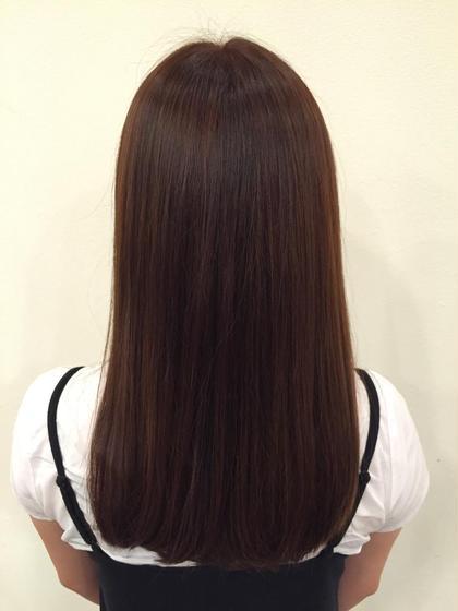 落ち着いた暖色カラー(✿˘艸˘✿) 夏の紫外線や海で傷んだ髪に 綺麗なツヤを与えてくれる 秋冬にぴったりのカラーです♪ Rian所属・鈴木教介のスタイル