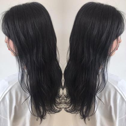 自然な黒髪×極潤トリートメント