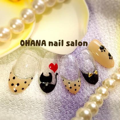 【お好みデザインコース】 色変更OK 猫が大好きなあなたに♡ OHANA自宅ネイルサロン所属・陳しゅう帆のフォト