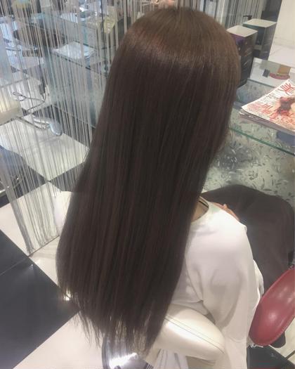 髪と頭皮に優しいオーガニックカラー炭酸泉+ハホニコトリートメント