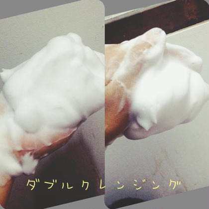 ダブルクレンジング クレンジングと洗顔を同時にできます。 ふわふわの泡で優しく汚れを落としていきます。 アミノ酸配合で潤いもきちんと残してくれます♡ De I'm所属・佐々木ジェイのフォト