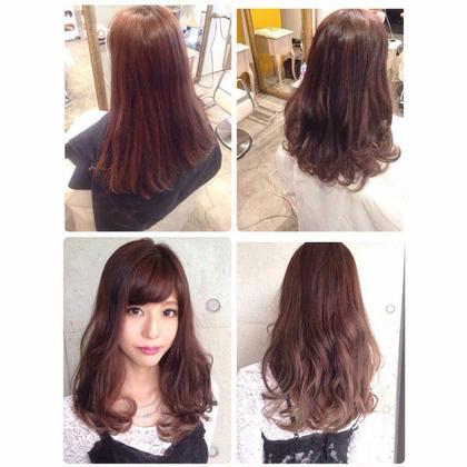 先日のお客様(^^)  lumdericaはお客様も可愛いかたが多いので嬉しい  2015秋冬オススメの髪色ピンクベージュにカラーリングしました(^^)/ Lumderica(ラムデリカ)所属・Yuka(ゆか)のスタイル